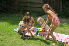 na watergevecht een ijsje :)