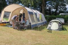 Locatie tenten en waslijn