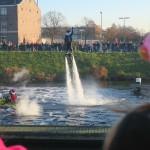 Stunt-piet voor de boten uit
